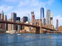 New York city Lower Manhattan skyline Royalty Free Stock Image