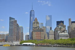 New York City, Lower Manhattan skyline Stock Images