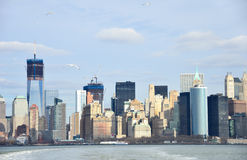 New York City Lower Manhattan view, New York Royalty Free Stock Photo