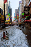 NEW YORK CITY - 16. März 2017 starke Schneefälle an der Allee, New York, Manhattan, Stockbild