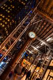 New York City, Madison Avenue - November 1, 2017: Rolex clock angled at night royalty free stock images