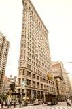 NEW YORK CITY - 22. MAI 2013: Plätteisen-Gebäude an einem Frühlingstag Stockfotografie