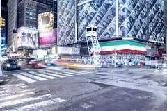 NEW YORK CITY - 22. MAI 2013: Times Square an einem Frühlingstag Ungefähr Lizenzfreies Stockbild