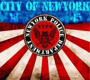 New York City Man College T shirt Graphic Design Royalty Free Stock Photos
