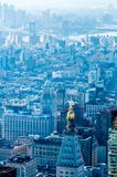 New York City Manh attan midtown aerial panorama view with skyscr Royalty Free Stock Images