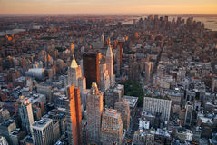 New York City Manhattan aerial view Royalty Free Stock Photography