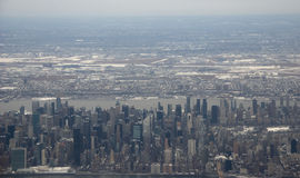 New York City - Manhattan aerial view Stock Photos