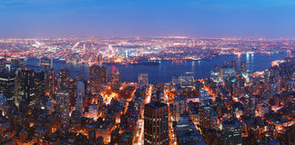 New York City Manhattan aerial view with Brooklyn Stock Image