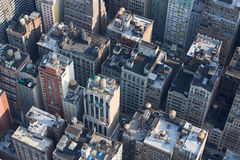 New York City Manhattan aerial view with buildings roof tops Stock Image