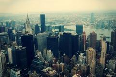 New York City Manhattan aerial view Stock Image