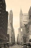 New York City Manhattan in bianco e nero Fotografia Stock Libera da Diritti