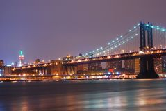 New York City Manhattan Bridge Royalty Free Stock Image