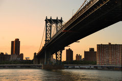 New York City Manhattan Bridge Stock Images