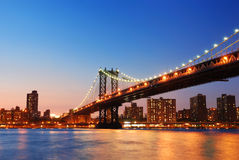 New York City Manhattan Bridge Stock Photo