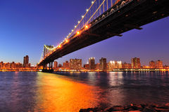 New York City Manhattan Bridge over East River Royalty Free Stock Photography