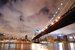 New York City Manhattan Bridge over Hudson River Royalty Free Stock Photos