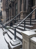 New York City Manhattan brownstone entrance Royalty Free Stock Photo