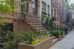 New York City Manhattan brownstone Royalty Free Stock Photo