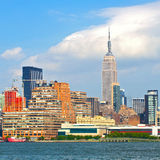 New York City, Manhattan buildings. New York City, skyline of buildings in lower downtown Manhattan business district Royalty Free Stock Photo