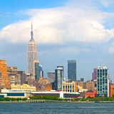 New York City, Manhattan buildings. New York City, skyline of buildings in lower downtown Manhattan business district Stock Photo
