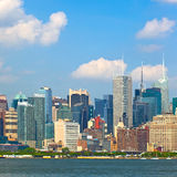 New York City, Manhattan buildings. New York City, skyline of buildings in lower downtown Manhattan business district Royalty Free Stock Photography