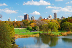 New York City Manhattan Central Park in Autumn Royalty Free Stock Photography