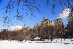 New York City Manhattan Central Park in inverno Fotografia Stock