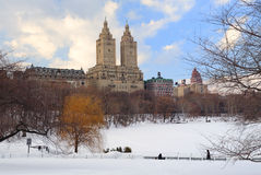 New York City Manhattan Central Park in winter Royalty Free Stock Photo