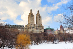 New York City Manhattan Central Park in winter Royalty Free Stock Images
