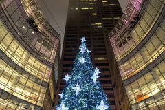 New York City Manhattan Christmas tree Stock Images