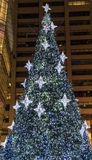 New York City Manhattan Christmas tree Royalty Free Stock Photo