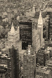 New York City Manhattan in città in bianco e nero Immagini Stock Libere da Diritti