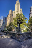 New York City Manhattan City Hall Park Royalty Free Stock Photography
