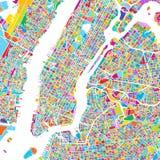 New York City Manhattan Colorful Map royalty free illustration