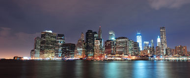 New York City Manhattan downtown Royalty Free Stock Photo