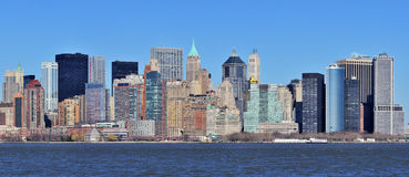 New York City Manhattan downtown panorama Stock Images