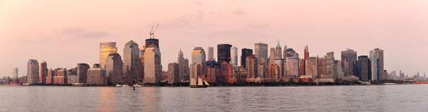 New York City Manhattan downtown skyline Royalty Free Stock Photo