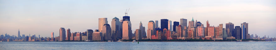 New York City Manhattan downtown skyline Royalty Free Stock Images