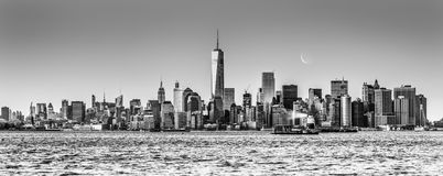 New York City Manhattan downtown skyline Royalty Free Stock Image