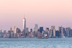 New York City Manhattan downtown skyline Stock Photography