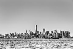 New York City Manhattan downtown skyline Stock Images