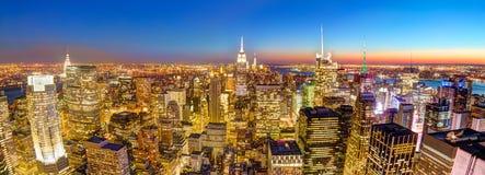 New York City Manhattan downtown skyline. Stock Image