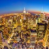 New York City Manhattan downtown skyline. Royalty Free Stock Photo