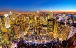 New York City Manhattan downtown skyline. Stock Photography
