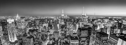 New York City Manhattan downtown skyline. Stock Images