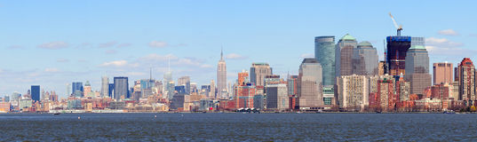 New York City Manhattan downtown skyline panorama Stock Photo