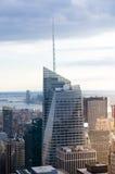 New York City. Manhattan downtown skyline at sunset Stock Photo