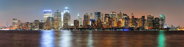 New York City Manhattan dusk panorama Royalty Free Stock Photography