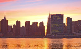 New York City, Manhattan famous landmark buildings Royalty Free Stock Images