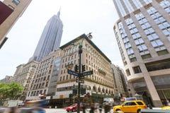 New York city Manhattan Fifth Avenue 5th Av US Royalty Free Stock Photography
